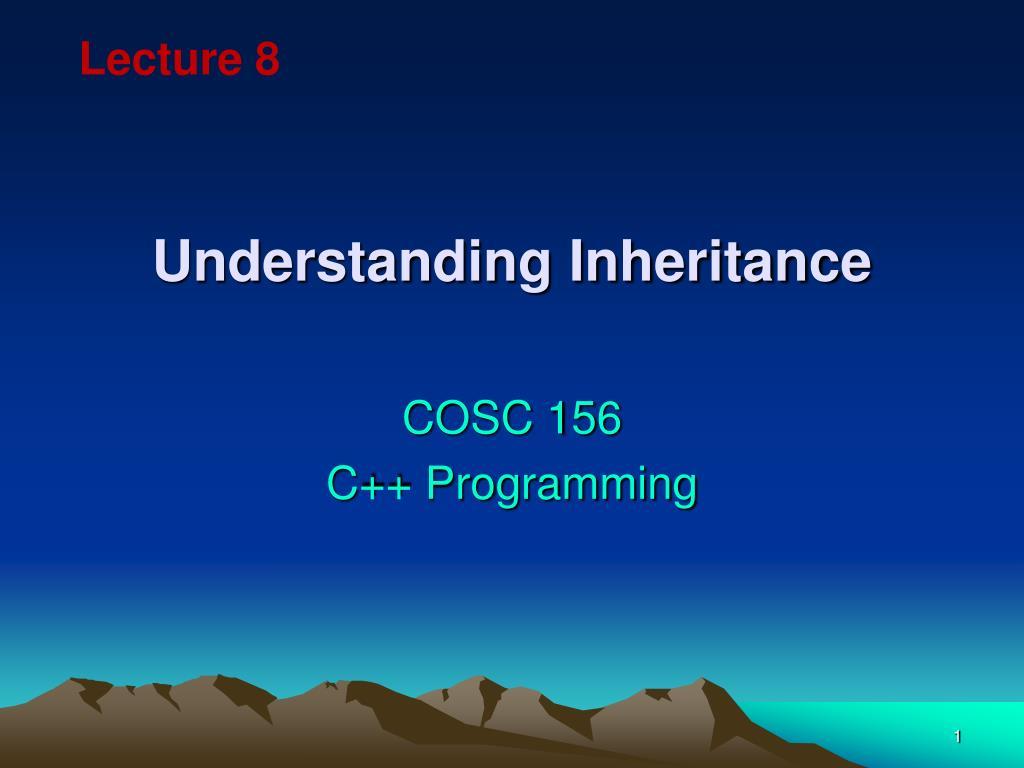 understanding inheritance l.