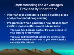 understanding the advantages provided by inheritance