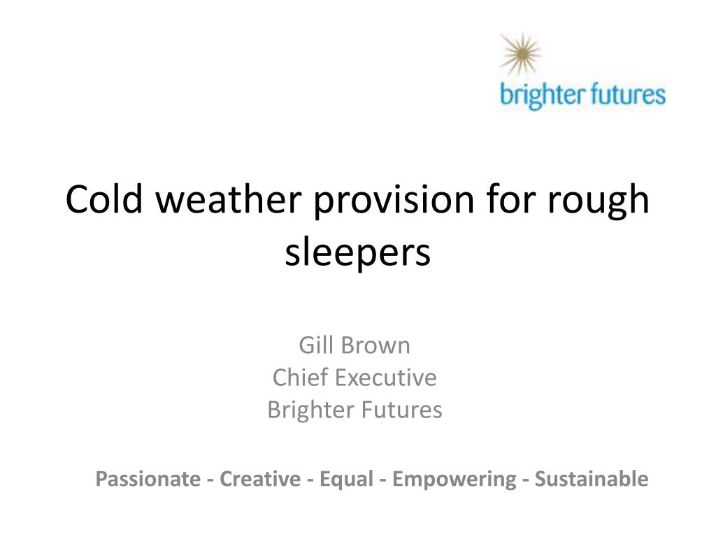 cold weather provision for rough sleepers l.