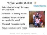 virtual winter shelter