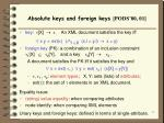 absolute keys and foreign keys pods 00 01