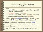 constraint propagation icde 03