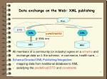 data exchange on the web xml publishing