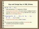 keys and foreign keys in xml schema