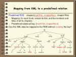 mapping from xml to a predefined relation