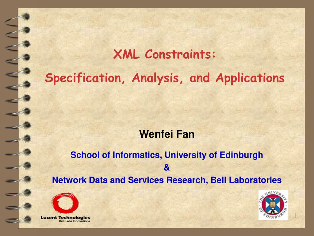 xml constraints specification analysis and applications l.