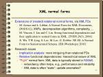 xml normal forms