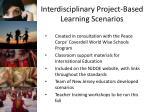 interdisciplinary project based learning scenarios