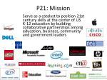 p21 mission