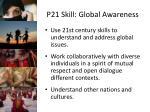 p21 skill global awareness