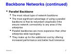 backbone networks continued17