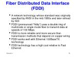 fiber distributed data interface fddi
