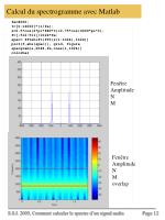 calcul du spectrogramme avec matlab
