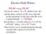 electric field waves