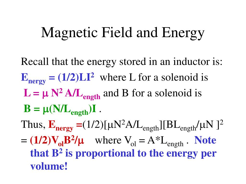 Magnetic Field and Energy