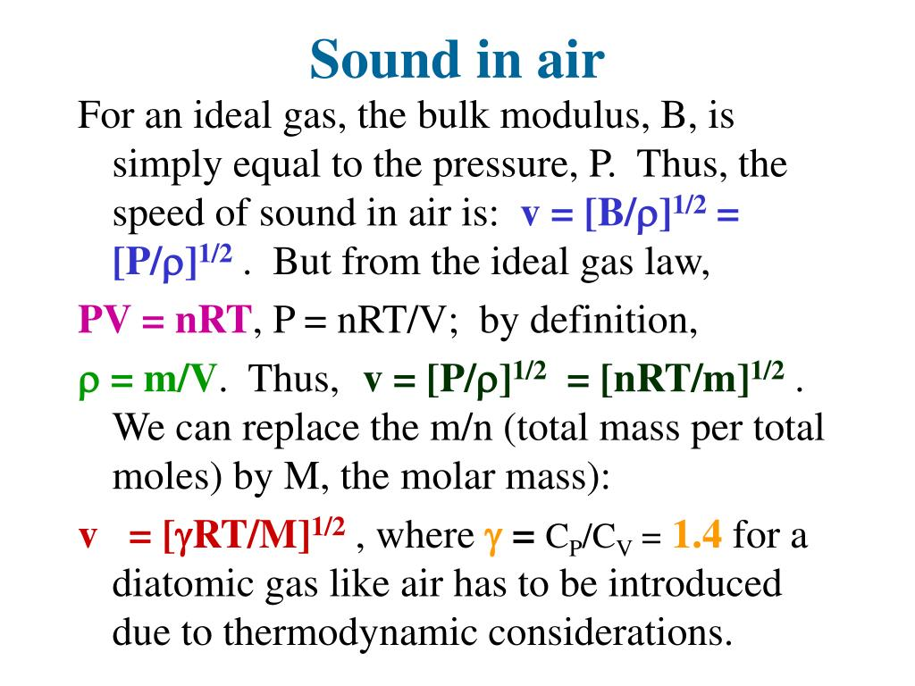 Sound in air