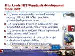 hl7 leads hit standards development since 1987