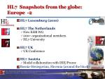 hl7 snapshots from the globe europe 2