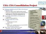 usa cda consolidation project