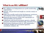 what is an hl7 affiliate