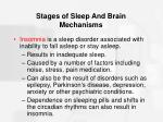 stages of sleep and brain mechanisms45