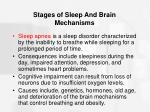 stages of sleep and brain mechanisms47