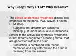 why sleep why rem why dreams67
