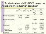 1 to what extent did fundef resources translate into education spending