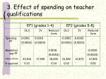 3 effect of spending on teacher qualifications