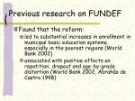 previous research on fundef
