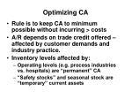 optimizing ca
