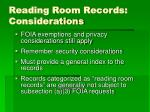 reading room records considerations