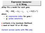expression measures li wong