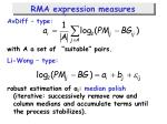 rma expression measures