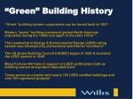 green building history