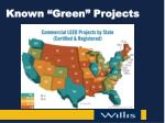 known green projects
