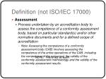 definition not iso iec 17000