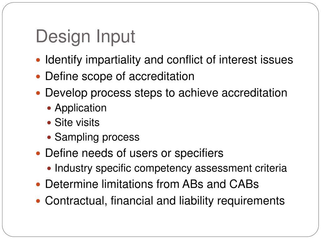 Design Input