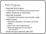 pilot program