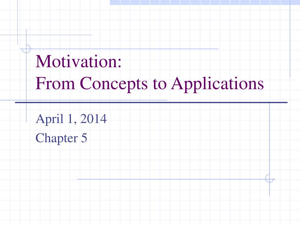 motivation from concepts to applications l.