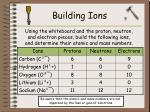 building ions
