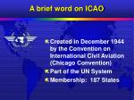 a brief word on icao