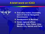 a brief word on icao3