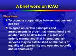 a brief word on icao4