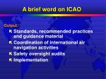a brief word on icao5