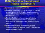 icao flight crew licensing and training panel fcltp