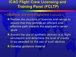 icao flight crew licensing and training panel fcltp18