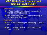 icao flight crew licensing and training panel fcltp19