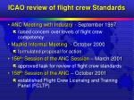 icao review of flight crew standards