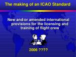 the making of an icao standard21